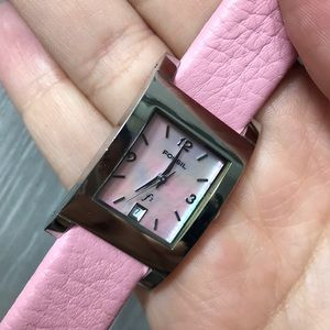Fossil Pink Leather and mother of pearl watch